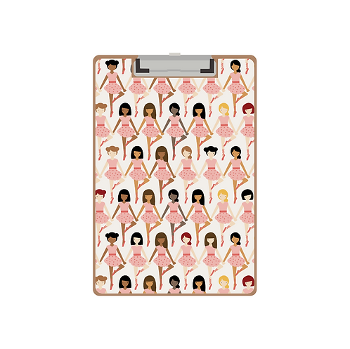CLIPBOARD pink tiny dancers pattern