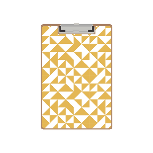 CLIPBOARD mustard quilt triangle pattern