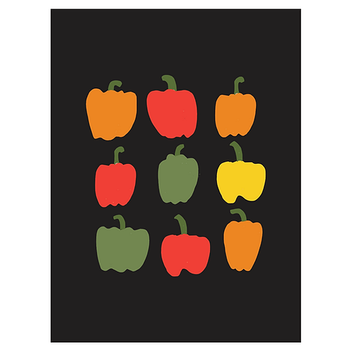peppers art print - SKU 1658