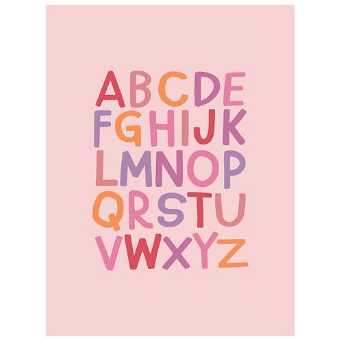 block ABC - pink