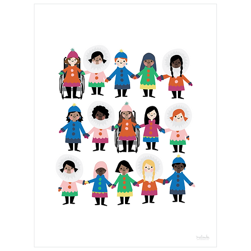 girl power art print - white - digital download