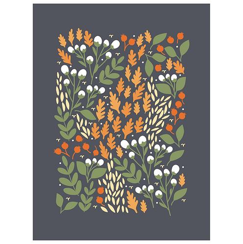 pom & cotton fall floral art print - SKU 1655