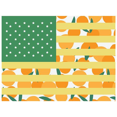 flag art print - citrus with green - digital download