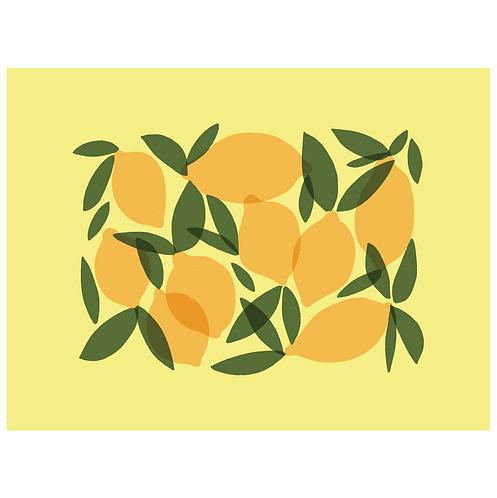 mod lemons art print - SKU 1656