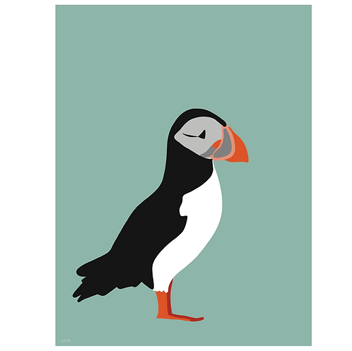 puffin art print - SKU 1636