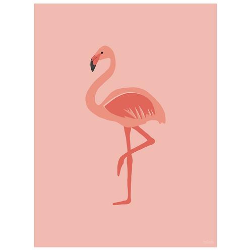 flamingo art print - pink - digital download