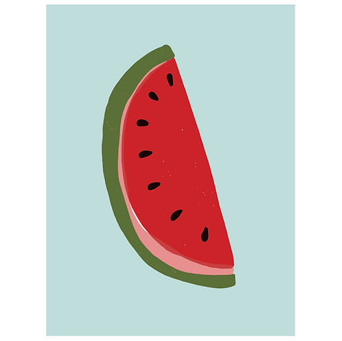 watermelon - powder blue