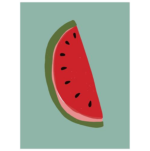 watermelon - dark seafoam