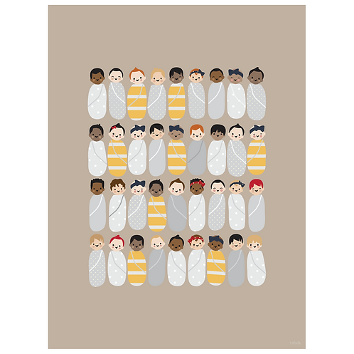 babies art print - kraft - digital download