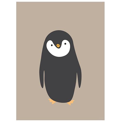 penguin art print - kraft - digital download