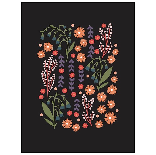 lillies valley floral mix - black