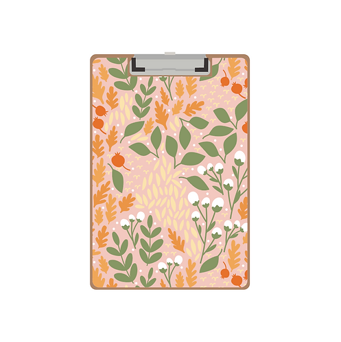 CLIPBOARD coral fall pomegranate pattern