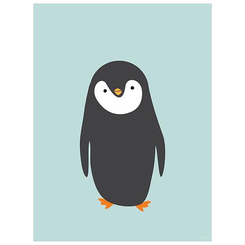penguin art print - powder blue - digital download