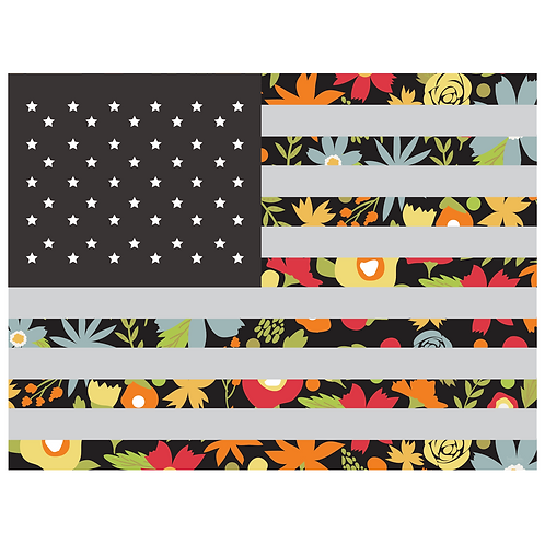 flag art print - garden grow main black - digital download