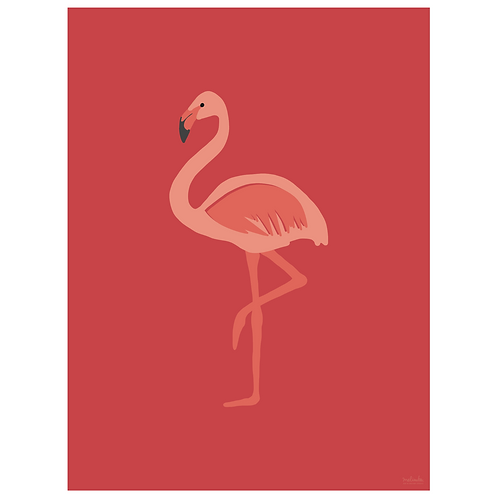 flamingo art print - berry - digital download