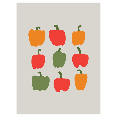 bell peppers - grey
