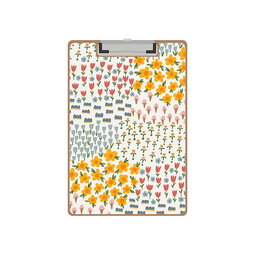 CLIPBOARD signs of spring cream pattern