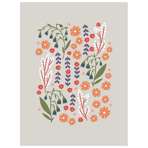 lillies valley floral mix - grey