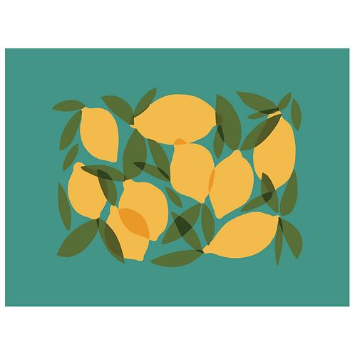 mod lemons - turquoise