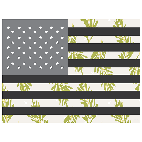 flag art print - rosemary light grey - digital download