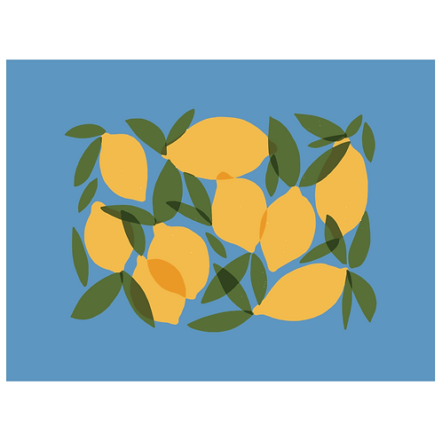 mod lemons - cornflower blue