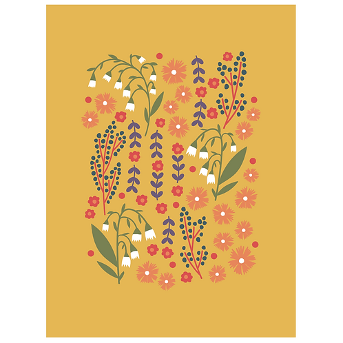 lillies valley floral mix - mustard