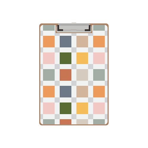 CLIPBOARD light mod plaid pattern