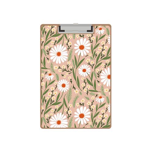 CLIPBOARD retro floral salmony pattern