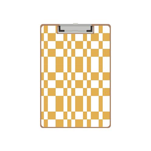 CLIPBOARD mustard tile pattern
