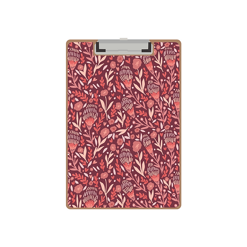 CLIPBOARD embroidered tulip pinks pattern