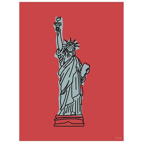 statue of liberty art print - berry - digital download