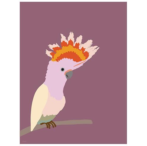 cockatiel art print - grape - digital download