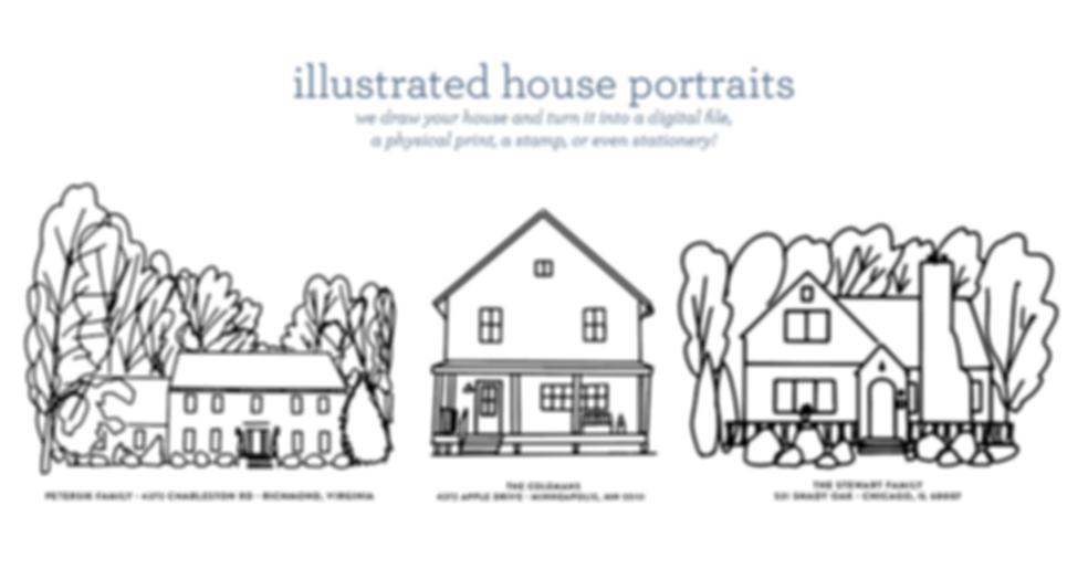 melimba simple house portrait collage.pn