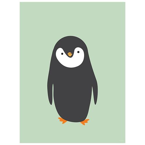 penguin art print - mint - digital download