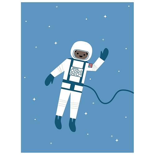 astronaut - cornflower blue