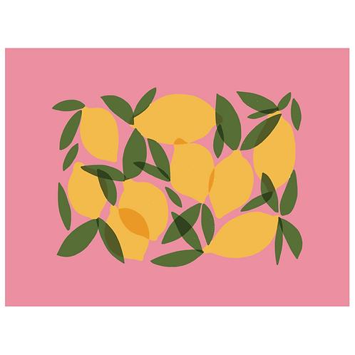 mod lemons - bright pink