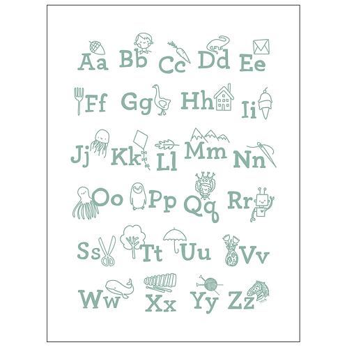 ABC's art print - SKU 1638