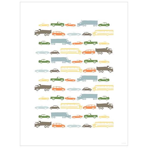 car talk art print - white - digital download