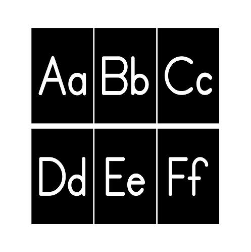 Black Alphabet 11x17 Posters
