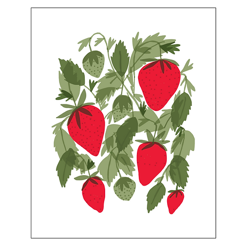 strawberries art print - SKU 1665