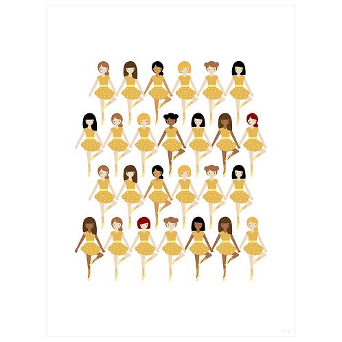 tiny dancer art print - yellow - digital download