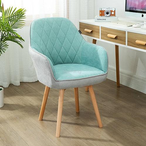 Modern Computer Office Chair Furniture, Wooden Legs
