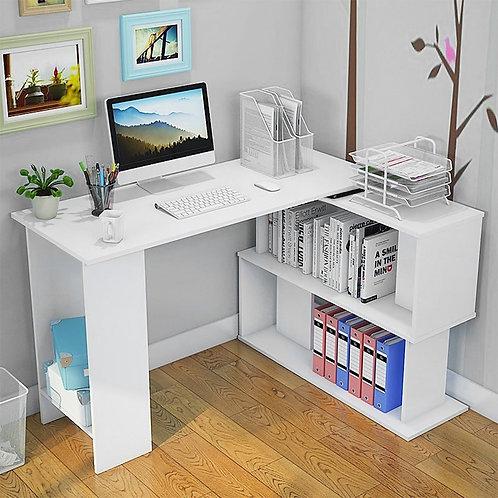 Computer Desk Corner Laptop Workstation - Bookshelf Computer Desk