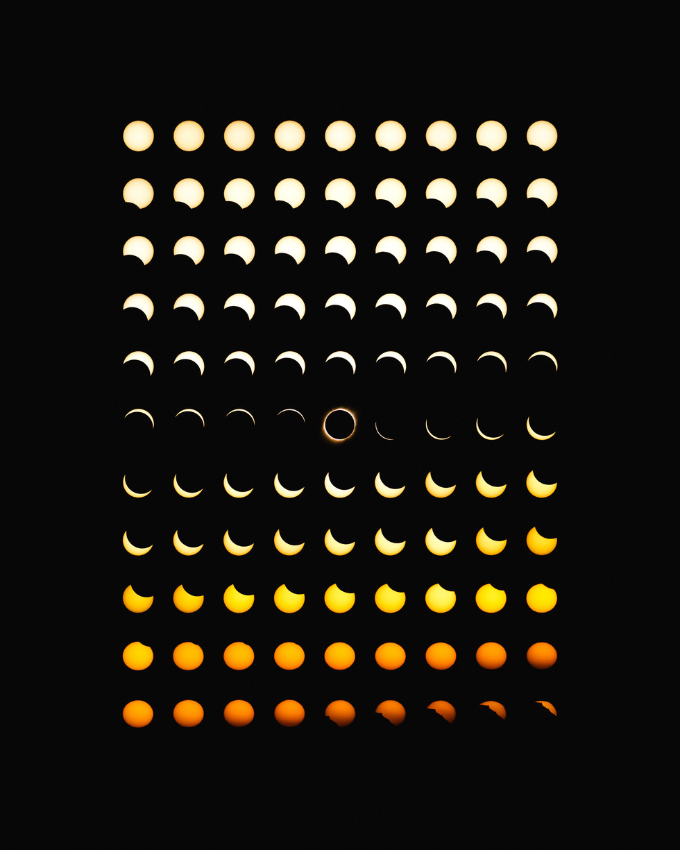 Total Solar Eclipse in 99 Photos