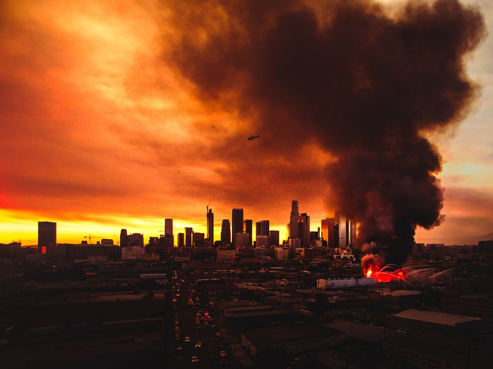 A Fire In Downtown Los Angeles