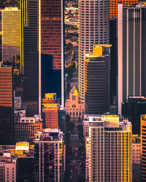 Downtown LA Golden Reflections