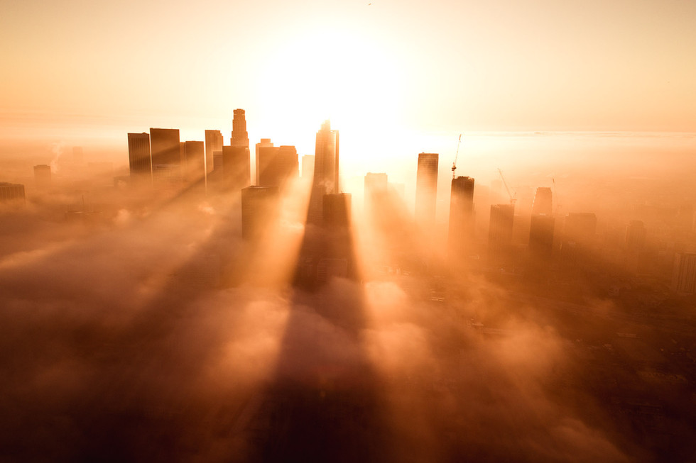 Los Angeles Covered in Fog
