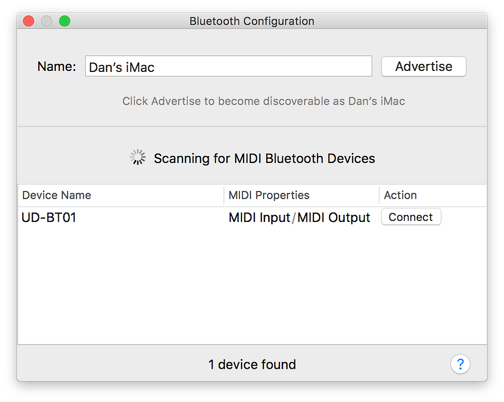 Mac Bluetooth Configuration Settings
