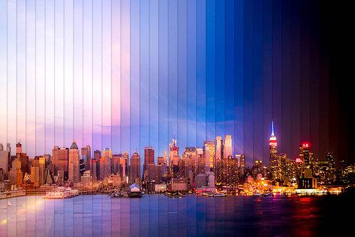 New York Time Slice 20x30 Mounted Acrylic