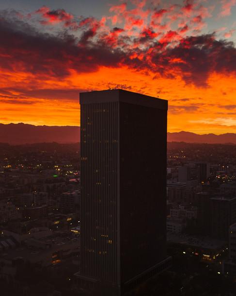 Sunrise in Korea Town Los Angeles